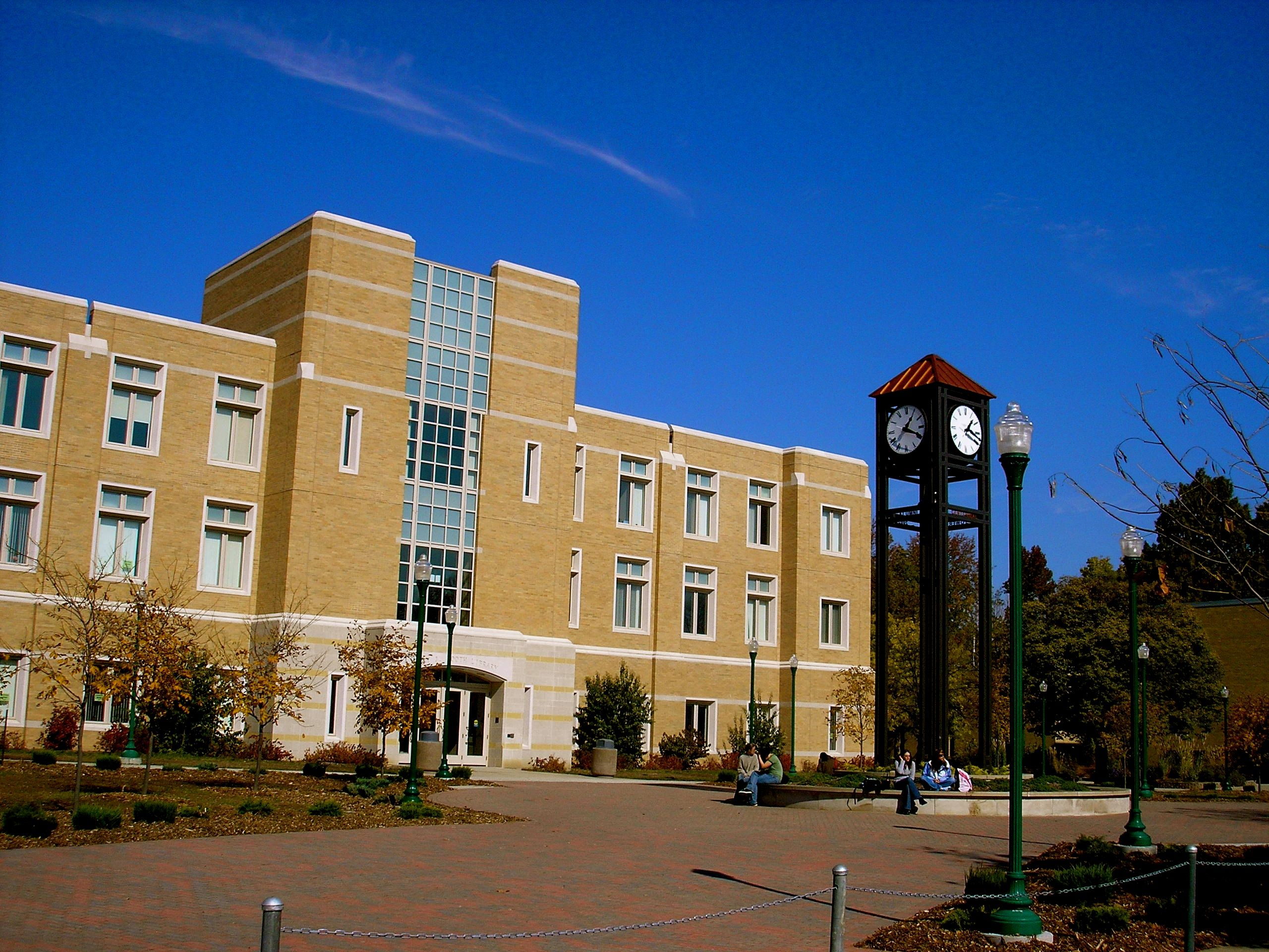 EIU's Booth Library and Clock Tower